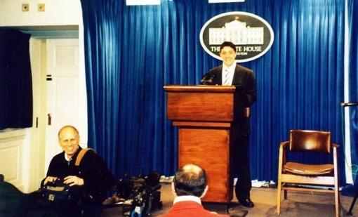 Victor Roncea la White House - Casa Alba - SUA